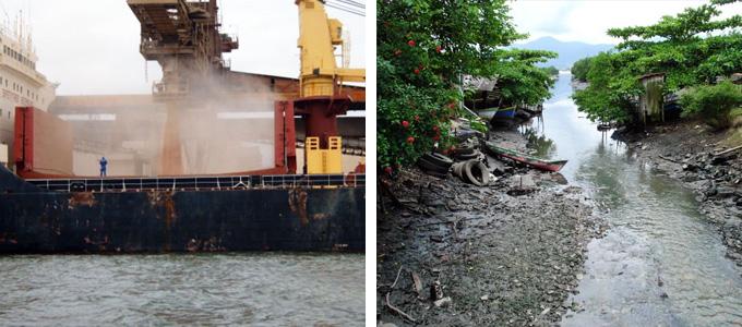 """Sojaverladung-im-Hafen-von-Paranaguá-(links)-Anhaia""""--Abwasserkanal-in-Paranaguá-(rechts).jpg"""